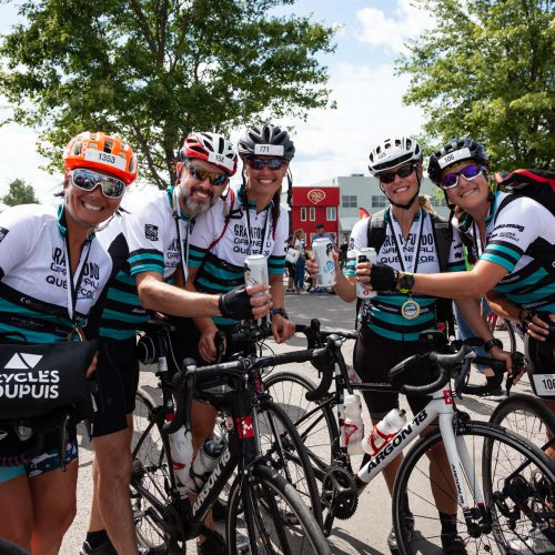 5 cyclistes au Granfondo